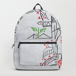 Jesus Christ in indigenous style Backpack