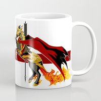 smaug Mugs featuring Smaug by MarieJacquelyn