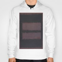 rothko Hoodies featuring Black on Maroon 1958 by Mark Rothko by mJdesign