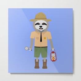 Sloth Ranger with lamp Metal Print