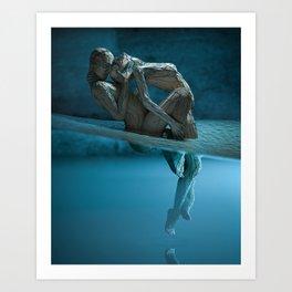 Desolation (Blue) Art Print