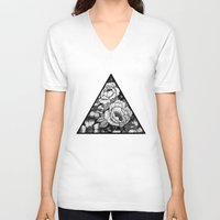 triangle V-neck T-shirts featuring Triangle by adroverart