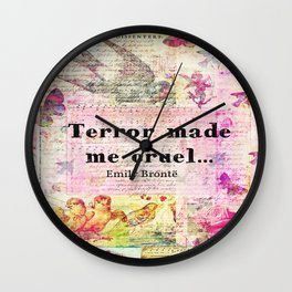 Emily Bronte quote Wall Clock