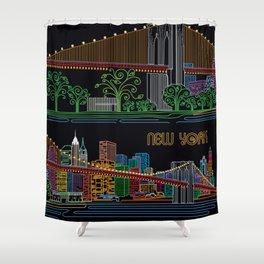 New York Circuit Shower Curtain