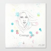 courage Canvas Prints featuring Courage by Tammy Kushnir