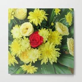 yellow flower,spring flowers, floristics, flowers, pattern, floral, beautiful, colored, floral arran Metal Print