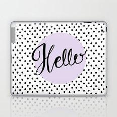 Hello Dots - Hand Lettering - Lavender Purple Laptop & iPad Skin