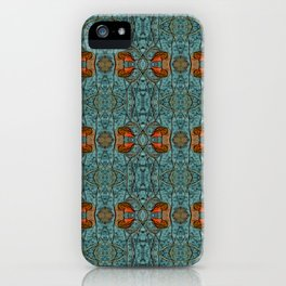 Geometric Blue Pattern iPhone Case