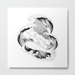 battle of waves. Metal Print