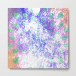 Tie dye Teardrops (Lavender) Metal Print
