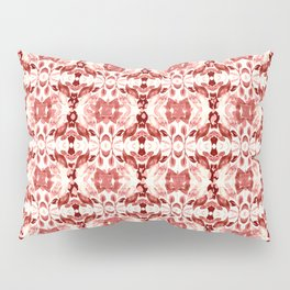 CORAL ABSTRACT LEAVES Pillow Sham