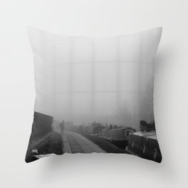 London Fog in Regents Canal III  by Diana Eastman Throw Pillow