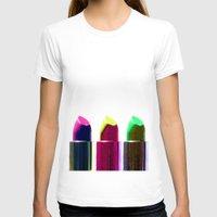 lipstick T-shirts featuring Lipstick  by aldarwish