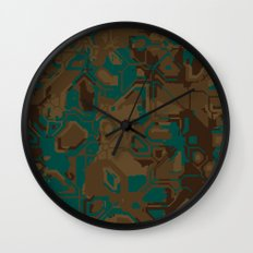Peacock and Brown Wall Clock