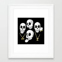 2pac Framed Art Prints featuring Death Row by Zhi-Yun