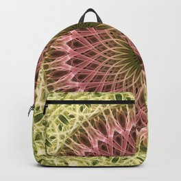 Detailed mandala in gold and red ones Backpack