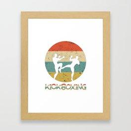 Kickboxing Vintage Gift for Martial Arts Fighters And Kickboxer Framed Art Print