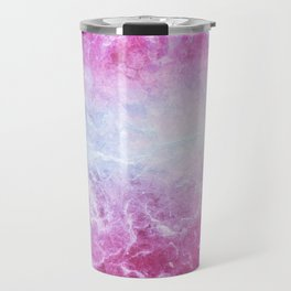Enigmatic Pink Purple Blue Marble #1 #decor #art #society6 Travel Mug