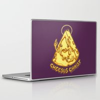 christ Laptop & iPad Skins featuring Cheesus Christ by Lili Batista