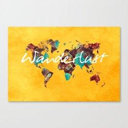 world map 123 wanderlust #wanderlust #map Canvas Print