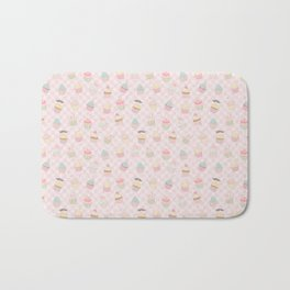 Cup Cakes and Pink Gingham Bath Mat