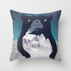 I ♥ Winter Throw Pillow
