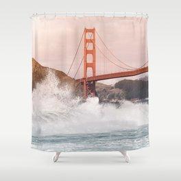 Baker Beach, Golden Gate Bridge Shower Curtain