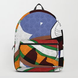 Girl Silhouette and Shapes I Backpack