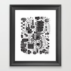 BUILD A CITY Framed Art Print