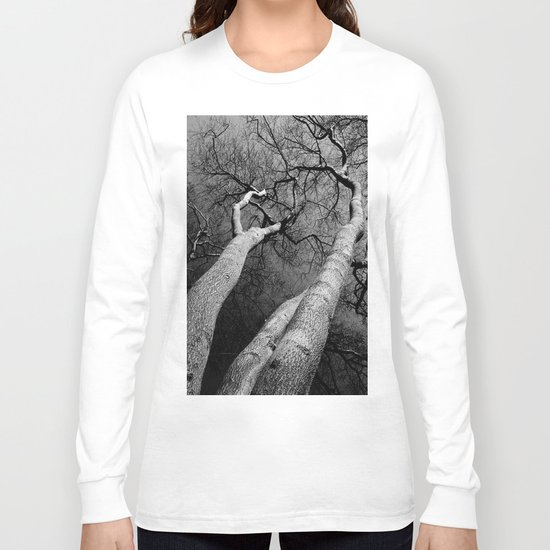 Monochrome Trees Long Sleeve T-shirt