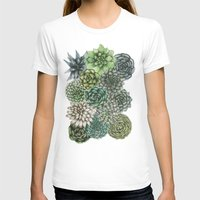 succulents T-shirts featuring An Assortment of Succulents by ECMazur