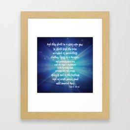Starry Night: KJV Luke Scripture Christmas Framed Art Print