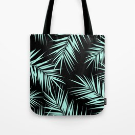 Palm Leaves Cali Finesse #4 #MintBlack #tropical #decor #art #society6 Tote Bag