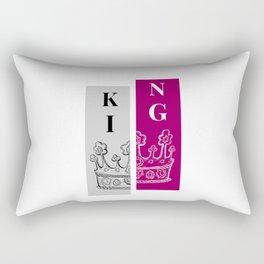 The King Crown Rectangular Pillow