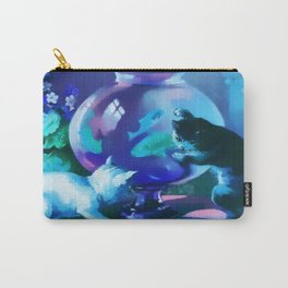 Kittens with Goldfishes Carry-All Pouch