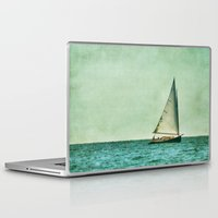 cape cod Laptop & iPad Skins featuring sailing cape cod seas by marie grady palcic
