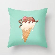 Summer Icecream Throw Pillow