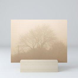 Foggy sunny morning Mini Art Print