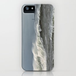 Big waves on the Back shore iPhone Case