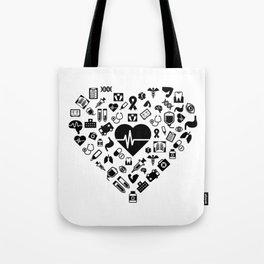 I Love First Aid | Doctor Nurse Heart Hospital Tote Bag