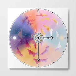 Sky Clock Metal Print