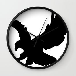 Eagle Silhouette Wall Clock