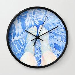 Feet in the pool Wall Clock