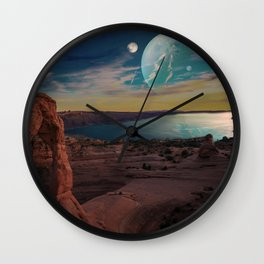 Space Desert Wall Clock