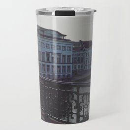 Sunset Over the Canals of Ghent, Belgium Travel Mug