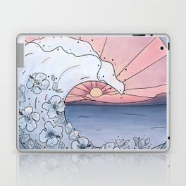 Flower Wave Laptop & iPad Skin