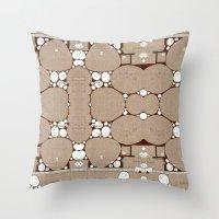 blueprint Throw Pillows featuring Rock Blueprint by Finn Wild