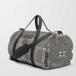 African Brown Tribal Mud Cloth Duffle Bag