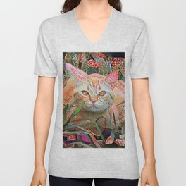 Alice's Cat Unisex V-Neck
