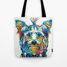 Colorful Yorkie Dog Art - Yorkshire Terrier - By Sharon Cummings Tote Bag